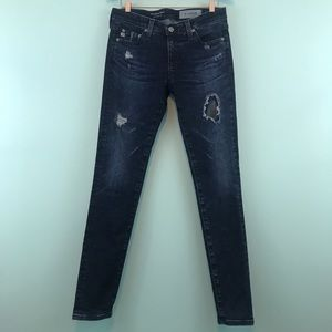 AG The Legging Ankle Distressed/Washed Out Skinny